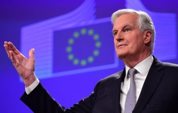 Michel Barnier, chief negotiator for the preparation and conduct of the negotiations with the United Kingdom under article 50 of the Treaty on European Union (TEU) gives a press conference at the European Commission on December 6, 2016, in Brussels. / AFP / EMMANUEL DUNAND (Photo credit should read EMMANUEL DUNAND/AFP/Getty Images)