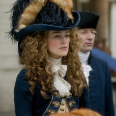 Keira Knightley, jouant G pour le film The Duchess