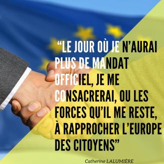 """""""Le jour où je n_aurai plus de mandat officiel, je me consacrerai, ou les forces qu_il me reste, à rapprocher l_Europe des citoyens"""""""